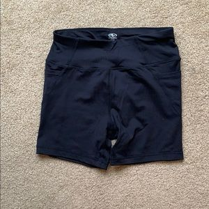 Athletic Works Black Spandex Shorts